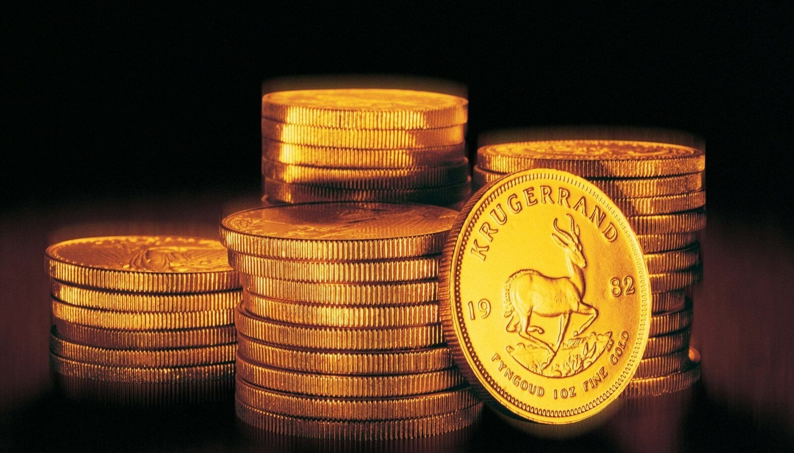 Gold investment coins include foreign coins such as the Krugerrand
