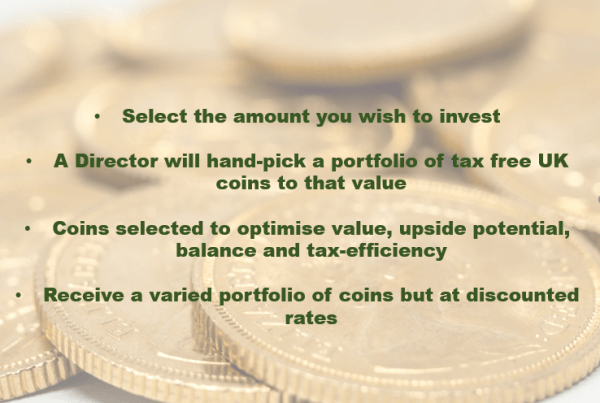 Why not choose our Directors Pick for great value gold investments