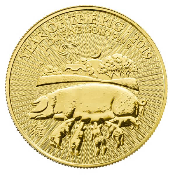 Gold Lunar Pig