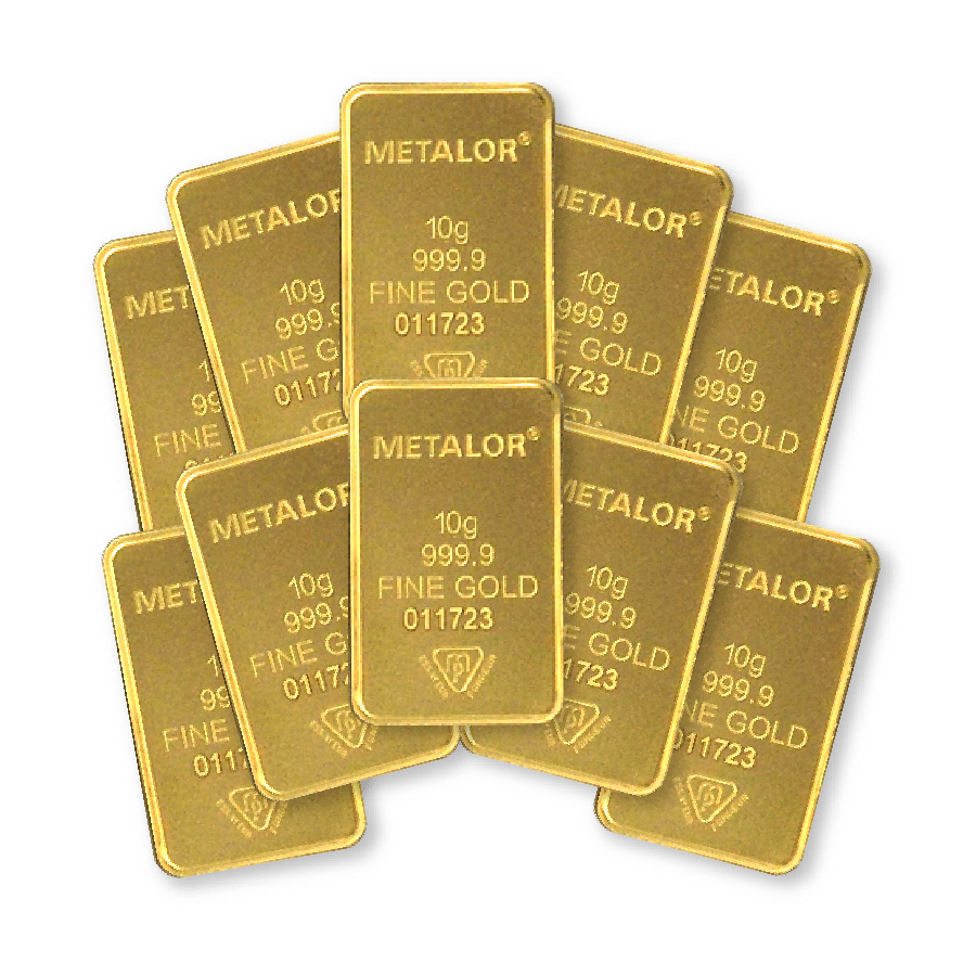What are the advantages of buying 10 gram gold bars?